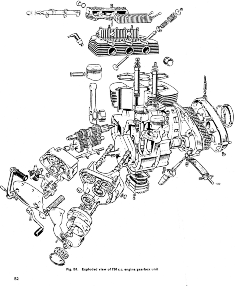 triumph t120 engine diagram